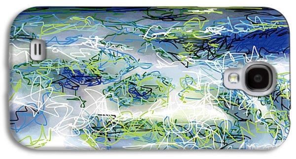 Turbulent Skies Digital Art Galaxy S4 Cases - Moonlight Serenade Galaxy S4 Case by Robert Yaeger