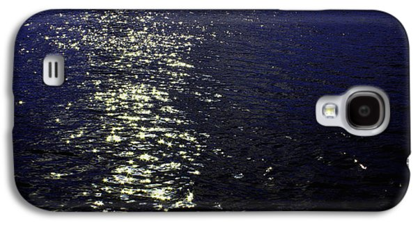 Ocean Mixed Media Galaxy S4 Cases - Moonlight Sparkles on the Sea Galaxy S4 Case by Linda Woods