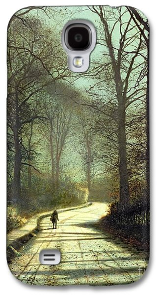 Moonlight Walk Galaxy S4 Case by John Atkinson Grimshaw