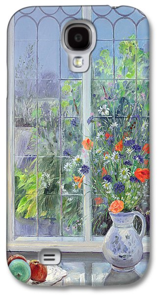 Botanical Galaxy S4 Cases - Moonlit Flowers Galaxy S4 Case by Timothy Easton