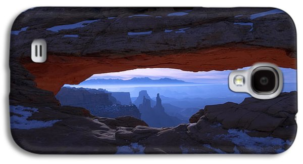 Winter Landscapes Galaxy S4 Cases - Moonlit Mesa Galaxy S4 Case by Chad Dutson