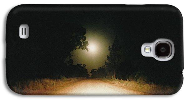 Vicki Ferrari Photography Photographs Galaxy S4 Cases - Moonrise On Melrose Galaxy S4 Case by Vicki Ferrari