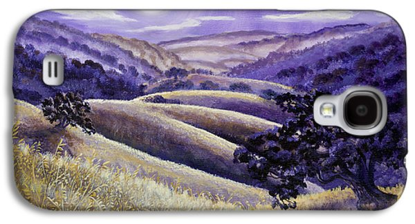 Surreal Landscape Galaxy S4 Cases - Moonrise over Monte Bello Galaxy S4 Case by Laura Iverson