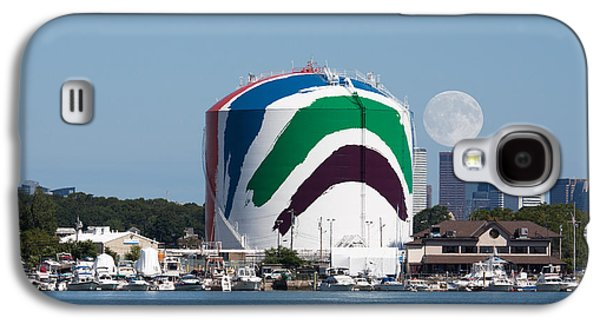 Landmarks Photographs Galaxy S4 Cases - Moonrise over the Gas Tank Galaxy S4 Case by Brian MacLean