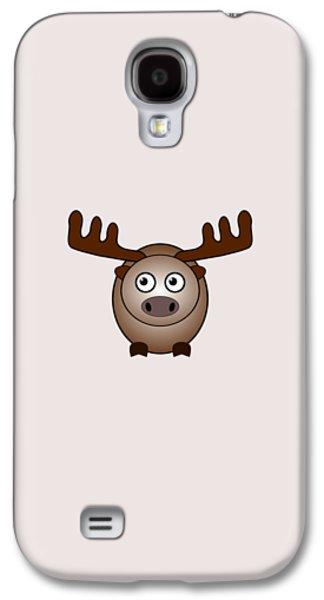 Little Galaxy S4 Cases - Moose - Animals - Art for Kids Galaxy S4 Case by Anastasiya Malakhova