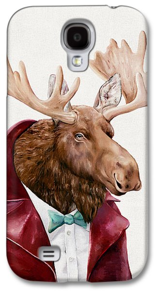 Moose In Maroon Galaxy S4 Case by Animal Crew