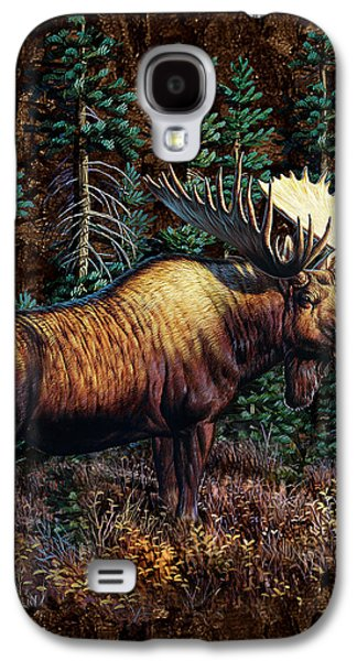 Cynthie Fisher Galaxy S4 Cases - Moose Vignette Galaxy S4 Case by JQ Licensing