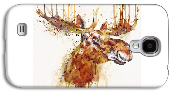 Moose Watercolor Galaxy S4 Case by Marian Voicu