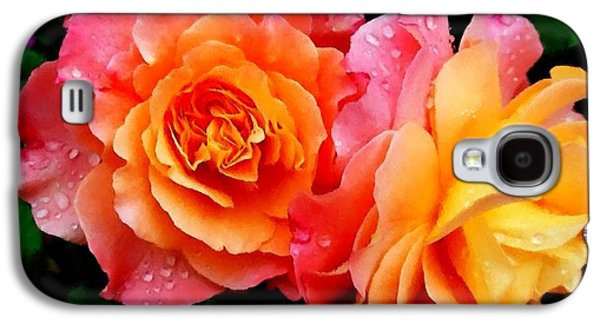 Abstract Digital Pastels Galaxy S4 Cases - More Roses For Anne Catus 1 no. 1 H A Galaxy S4 Case by Gert J Rheeders