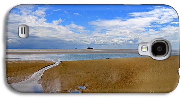 Tidal Photographs Galaxy S4 Cases - Morecambe Bay Cumbria Galaxy S4 Case by Louise Heusinkveld