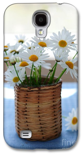 Indoor Still Life Galaxy S4 Cases - Morning daisies Galaxy S4 Case by Elena Elisseeva