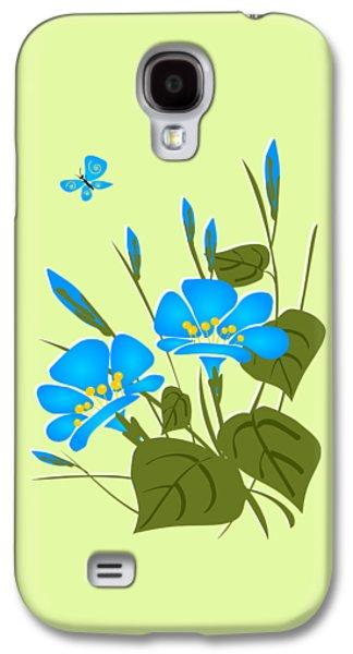 Print Galaxy S4 Cases - Morning Glory Galaxy S4 Case by Anastasiya Malakhova