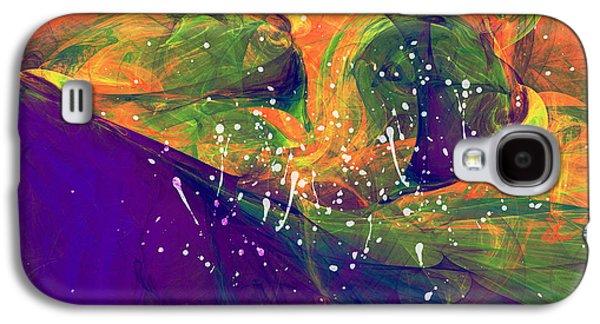 Abstract Digital Mixed Media Galaxy S4 Cases - Morning Heat Abstract Galaxy S4 Case by Georgiana Romanovna