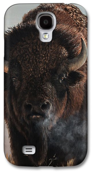 Bison Paintings Galaxy S4 Cases - Morning in the Foothills  Galaxy S4 Case by Rob Dreyer AFC