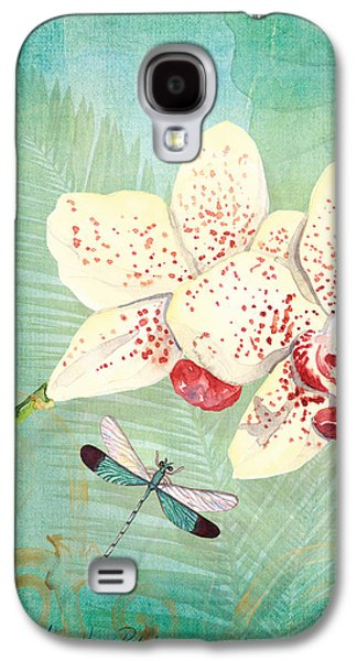 Swirly Galaxy S4 Cases - Morning Light - Dancing Dragonflies Galaxy S4 Case by Audrey Jeanne Roberts