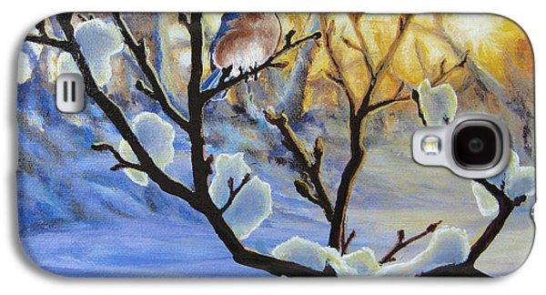 Winter Light Paintings Galaxy S4 Cases - Morning Light Galaxy S4 Case by Joe Mandrick