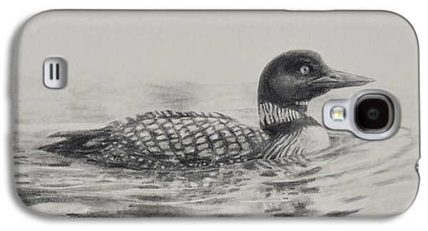 Drawing Galaxy S4 Cases - Morning Loon Galaxy S4 Case by Jim Young