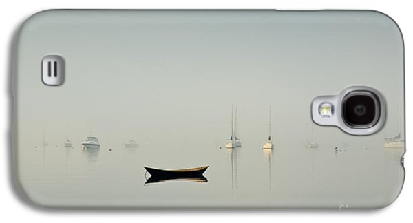 Contemplative Photographs Galaxy S4 Cases - Morning Mist Bristol Harbor Galaxy S4 Case by David Gordon