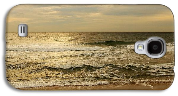 Peaceful Galaxy S4 Cases - Morning On The Beach - Jersey Shore Galaxy S4 Case by Angie Tirado