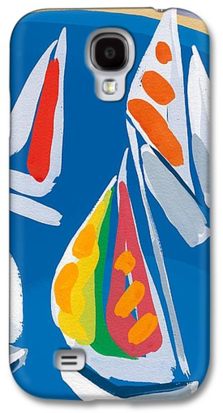 Water Vessels Paintings Galaxy S4 Cases - Morning Sail Galaxy S4 Case by Sarah Gillard