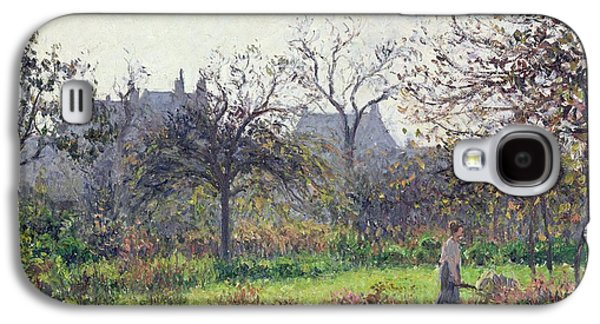 Fruit Tree Galaxy S4 Cases - Morning Sun Galaxy S4 Case by Camille Pissarro
