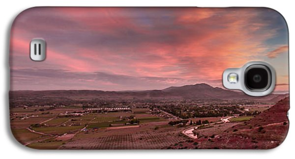 Haybale Galaxy S4 Cases - Morning View Over Emmett Valley Galaxy S4 Case by Robert Bales