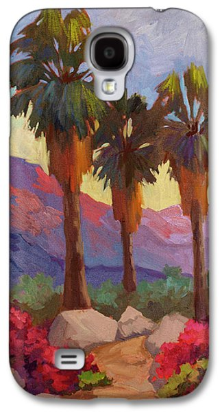 Morning Galaxy S4 Cases - Morning Walk Galaxy S4 Case by Diane McClary