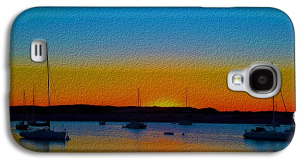 Morro Bay Abstract Sunset  Galaxy S4 Case by Barbara Snyder