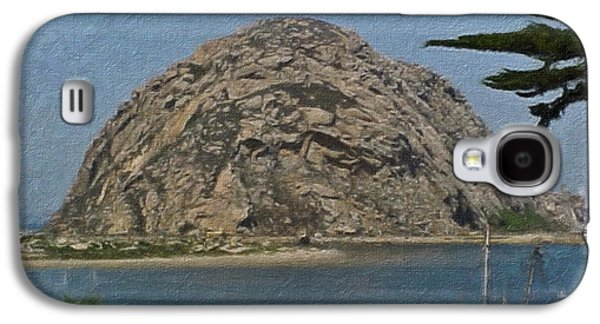 Pch Galaxy S4 Cases - Morro Rock California Painting Galaxy S4 Case by Teresa Mucha