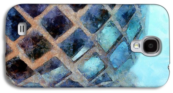 Abstract Digital Photographs Galaxy S4 Cases - Mosaic Blues Galaxy S4 Case by Krissy Katsimbras