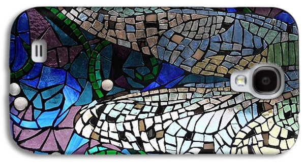 Fantasy Glass Galaxy S4 Cases - Mosaic Stained Glass - Dragonfly Wings Galaxy S4 Case by Catherine Van Der Woerd