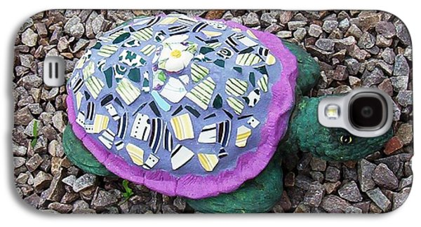Original Ceramics Galaxy S4 Cases - Mosaic Turtle Galaxy S4 Case by Jamie Frier