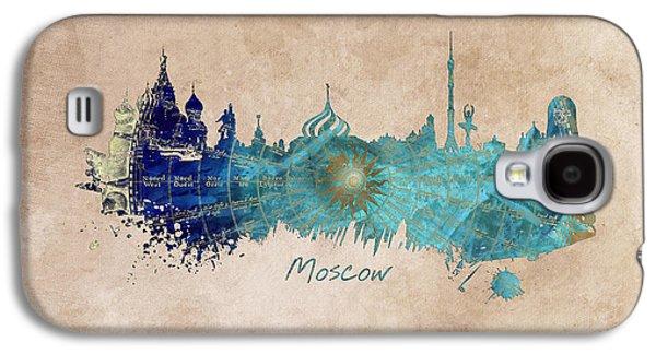 Moscow Skyline Wind Rose Galaxy S4 Case by Justyna JBJart