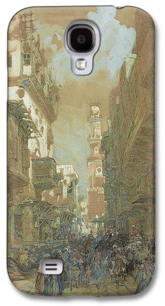 Religious Drawings Galaxy S4 Cases - Mosque El Mooristan in Cairo Galaxy S4 Case by David Roberts