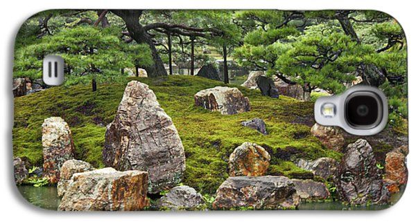 Rainy Day Photographs Galaxy S4 Cases - Mossy Japanese Garden Galaxy S4 Case by Carol Groenen
