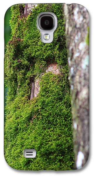Trees Photographs Galaxy S4 Cases - Mossy Tree Galaxy S4 Case by Lynn L