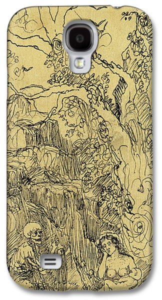 Mother And Time Galaxy S4 Case by Rodolphe Bresdin