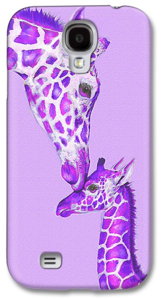 Giraffe Digital Galaxy S4 Cases - Mother Giraffe Galaxy S4 Case by Jane Schnetlage