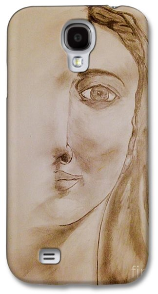 Religious Drawings Galaxy S4 Cases - Mother Mary Galaxy S4 Case by Navroz  Raje