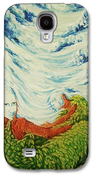 Etc Paintings Galaxy S4 Cases - Mother Nature Galaxy S4 Case by Pralhad Gurung
