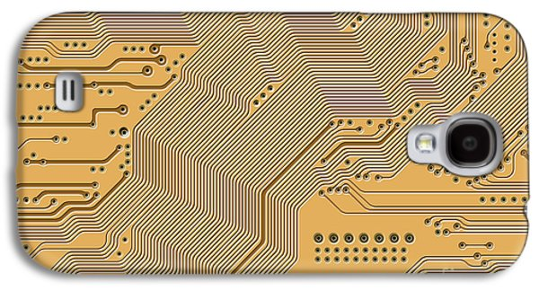 Component Galaxy S4 Cases - Motherboard - Printed Circuit Galaxy S4 Case by Michal Boubin
