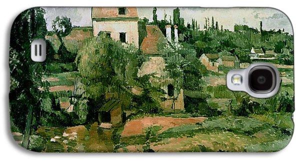 Field. Cloud Paintings Galaxy S4 Cases - Moulin de la Couleuvre at Pontoise Galaxy S4 Case by Paul Cezanne