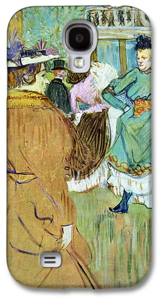 Prostitution Paintings Galaxy S4 Cases - Moulin Rouge Galaxy S4 Case by Toulouse Lautrec