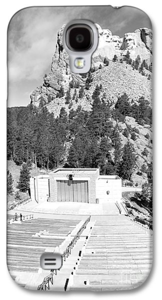 Open Air Theater Galaxy S4 Cases - Mount Rushmore National Monument Amphitheater South Dakota Black and White Galaxy S4 Case by Shawn O