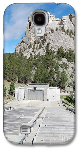 Open Air Theater Galaxy S4 Cases - Mount Rushmore National Monument Amphitheater South Dakota Galaxy S4 Case by Shawn O