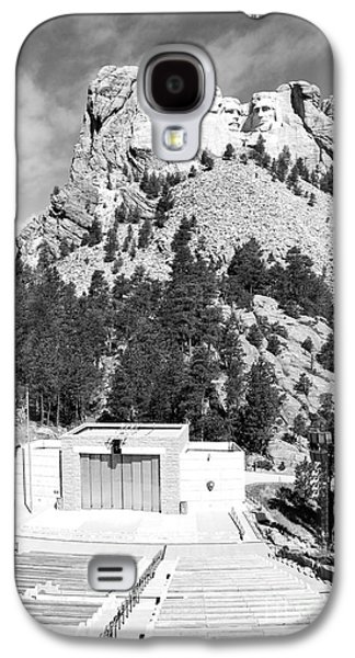 Open Air Theater Galaxy S4 Cases - Mount Rushmore National Monument Overlooking Amphitheater South Dakota Black and White Galaxy S4 Case by Shawn O