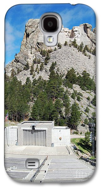Open Air Theater Galaxy S4 Cases - Mount Rushmore National Monument Overlooking Amphitheater South Dakota Galaxy S4 Case by Shawn O