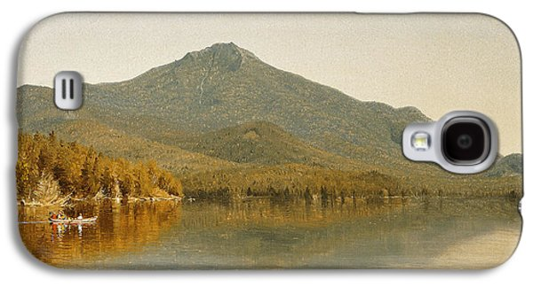 Pastimes Galaxy S4 Cases - Mount Whiteface from Lake Placid Galaxy S4 Case by Albert Bierstadt