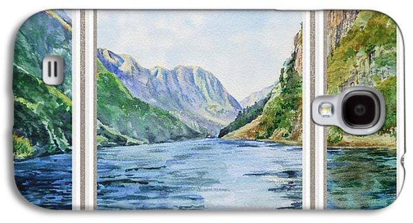 Mountain Lake View Window  Galaxy S4 Case by Irina Sztukowski