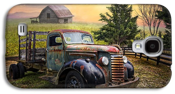 Tennessee Barn Galaxy S4 Cases - Mountain Morning Galaxy S4 Case by Debra and Dave Vanderlaan